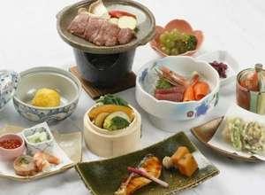 北村温泉ホテル:こぶしプランの夕食です。