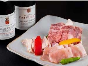 上州牛・上州麦豚・赤城鶏を1度に味わえる群馬県産ブラント肉三種盛はまさに贅沢の一言!