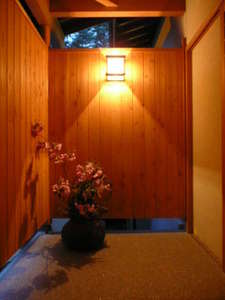 安曇野 老舗豆腐屋の宿 天満閣:露天風呂入口