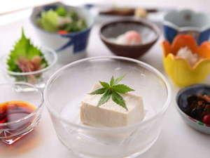 安曇野 老舗豆腐屋の宿 天満閣:手作り豆腐をご賞味ください