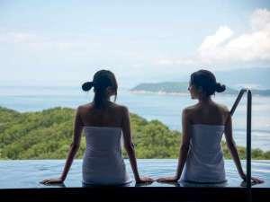 休暇村 紀州加太(きゅうかむら きしゅうかだ):露天風呂からは友ヶ島や淡路島がご覧いただけます。
