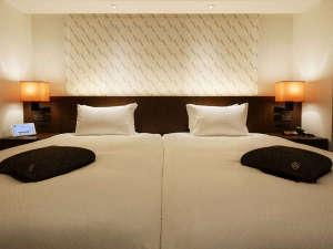 FORZA ホテルフォルツァ博多(筑紫口):ツインタイプはベッドが隙間なく設置されております(写真:リフレッシュツインルーム)