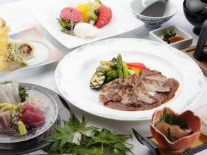 【夕食・コースメニュー】宮崎ブランドポークのコースでは、全6品をご提供。