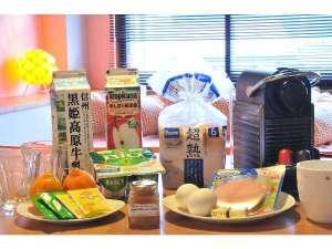 アドレス野沢:朝食食材をお部屋へプレゼント