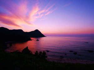 丹後温泉 はしうど荘:春から秋にかけて夕暮れの景色はとても美しい