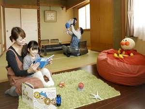 ホテル高砂:キッズスペース付き和室♪です。和室8畳+キッズスペース