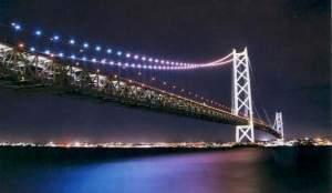 旅館 権現荘:明石といえば・・・ライトアップがロマンチックな「明石海峡大橋」はオススメ!