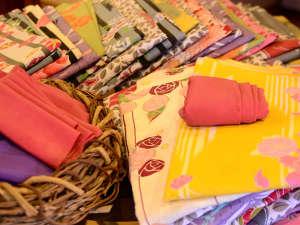 湯平温泉 ゆけむりの宿 花木綿:色浴衣/お風呂上がりに着る浴衣も、せっかくだから色華やかなに。お好きな柄をお選び頂けます。
