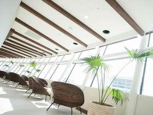 シティプラザ大阪~HOTEL & SPA~:【14階大浴場(TEN)】お風呂上りは窓辺で ちょっと休憩(*^^)v