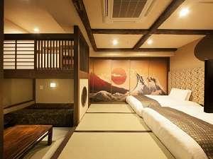 ■〔本館〕和スイート富士・桜 36㎡◆セミダブル(120cm)×2台 二段ベッド×2台 ソファーベッド