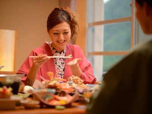 萩姫の湯 栄楽館:お部屋食で大切な人とゆったり♪リーズナブルなお食事処のプランも人気☆彡