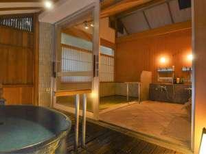 萩姫の湯 栄楽館:【滝見の湯】貸切風呂は内湯と半露天風呂付(通常45分2,000円)