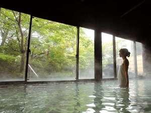桜島を望む 霧島唯一の展望温泉の宿 霧島観光ホテル:桜島の溶岩を使った『霧乃溶岩露天風呂』併設の内湯。原泉蒸湯も御座います。