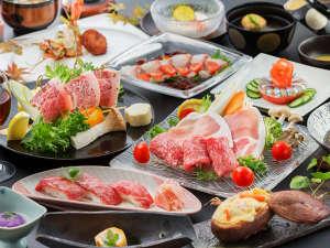 桜島を望む 霧島唯一の展望温泉の宿 霧島観光ホテル:~肉づくし会席~黒毛牛・黒豚の豆乳鍋、黒毛牛の陶板焼き、牛炙り寿司、お肉好きにはたまらない♪