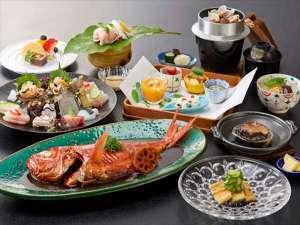 伊豆今井浜温泉 今井荘:藤会席+金目鯛の煮つけ※料理イメージ