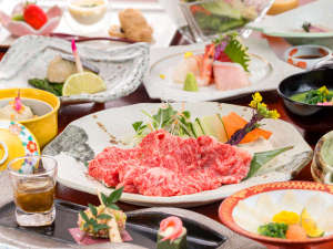 ホテル 松本楼:◆上州牛会席(しゃぶしゃぶ)◆伊香保に来たなら味わうべき!お肉の甘みがたまりません!!
