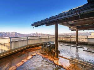 ホテル 松本楼:女性のお客様には朝風呂がオススメ!爽快な山景色を眺めながら、2種の温泉をお楽しみください♪