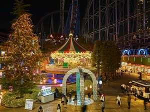 東京ドームホテル:ラクーアエリアのイルミネーション★今年は「和風」がテーマ。