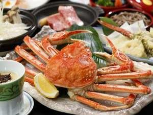 湯之助の宿 長楽園:【冬の味覚★蟹】身がぎっしり詰まった茹で蟹を贅沢にどうぞ!食べ方選べる蟹料理プランも♪