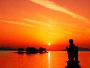 【しんじ湖夕景】小泉八雲の愛した宍道湖の夕景☆(当館から車で15分)