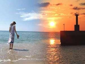 夕日ヶ浦温泉 夕日浪漫 一望館:時間とともに移ろう美しいビーチへは徒歩30秒