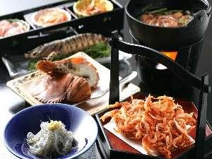 割烹旅館 西山:香ばしい桜海老の香りと食感を楽しんで 一例