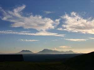 久住高原コテージ:久住高原から望む阿蘇五岳