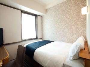 アパホテル<大阪天満>:【客室】シングルルーム*11平米・ベッド1台(120㎝×195cm)