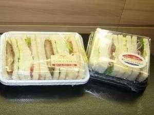 センターホテル大阪:人気の朝食付きプランはサンドイッチとドリンクがセットに♪7:00~9:30にフロントにてお渡しいたします。