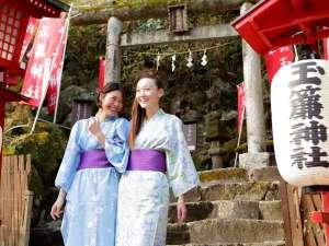 箱根湯本温泉 天成園:◆庭内にある玉簾神社。縁結びの神様としても御利益あり!