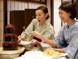 箱根湯本温泉 天成園:◆夕食バイキング◆人気のチョコレートファウンテン