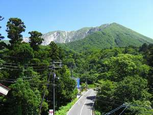 弥山荘(みせん荘):新緑の大山。清々しい緑が綺麗です!森林浴されませんか?