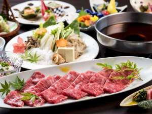 蔵王温泉 ルーセント タカミヤ:【すき焼き例】野菜もお肉もおいしくいただけるすき焼きは、栄養のバランスも良く人気のメニュー!