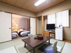 アパホテル<高松空港>:和洋室(広さ43.5㎡/ベッド幅124㎝+布団)