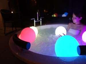 ~大人の隠れ家リゾート~ ホテルモアナコースト:全室専用露天風呂でナイトジャグジーをお楽しみください♪