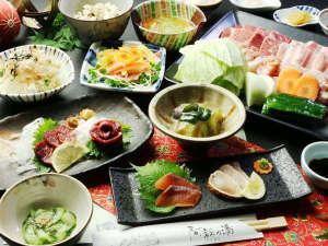 旅の宿 阿蘇乃湯:【華夕食】馬刺しと3種の焼肉をご堪能ください♪