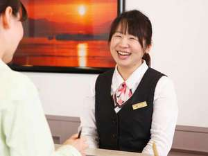 宮島コーラルホテル:◆笑顔でお出迎え致します(^^)ようこそ宮島コーラルホテルへ♪