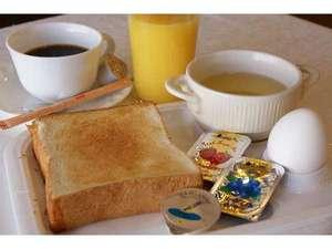 ホテルサンコー高崎:無料サービスの朝食一例(お好きなだけどうぞ)