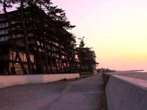 海岸沿いに延びる遊歩道はお散歩コース♪