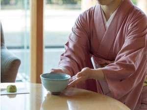 お風呂上りに抹茶のサービス~贅沢なひとときを♪