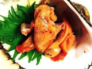 田舎の迎賓館みさき:特別料理地物 赤貝の刺身