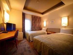 ホテルエース盛岡:ツインルーム●お部屋の広さ 16.5㎡(10.1畳)●ベッドサイズ 205cm×110cm