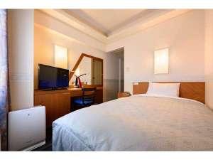 ホテルエース盛岡:別館ワイドシングル●お部屋の広さ 12.5㎡(7.7畳)●ベッドサイズ 205cm×135ccm