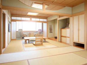 別荘佳景:【客室】6室全てがヴィラスタイルのスイートルーム。お客様のプライベートを最優先したルームスタイルです