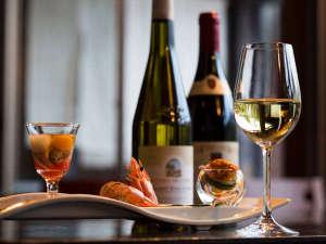 あじ蔵かろかろ:前菜とワイン