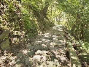 箱根湯本ホテル:敷地内を通る東海道石畳。歴史を感じながらちょっとお散歩♪