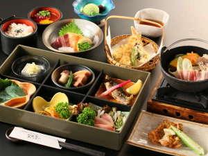 岩魚茶舎 (いわなぢゃや):夕食一例
