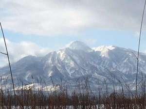 神の宮温泉 かわら亭:妙高山 冬