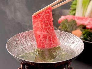 和倉温泉 加賀屋:能登牛と海藻のしゃぶしゃぶ