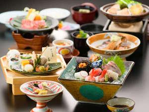 和倉温泉 加賀屋:和食会席の一例